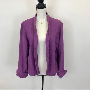 Cut Loose 100% Linen purple jacket M